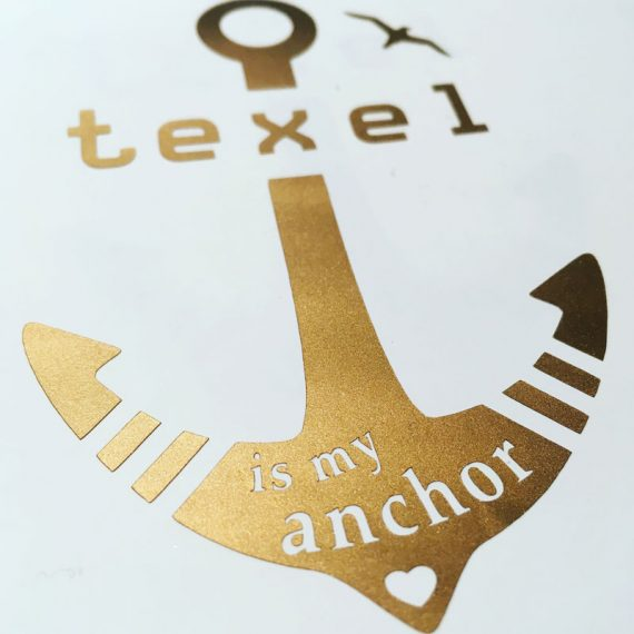 "Autosticker ""texel is my anchor"""